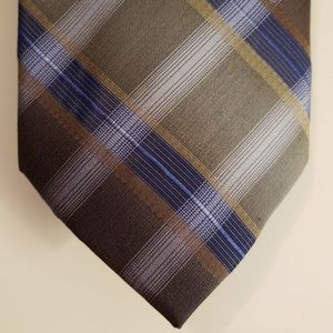 Pierre Cardin Plaid Silk Tie